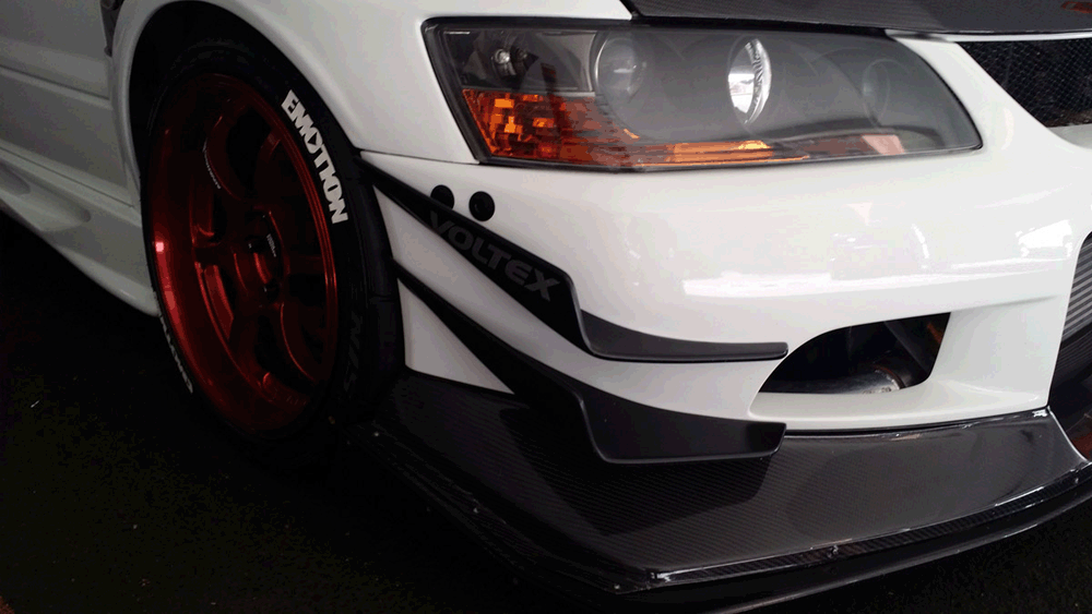 Evo 8-9 Bumper Kit – VOLTEX Bumper Version – Black Anodized